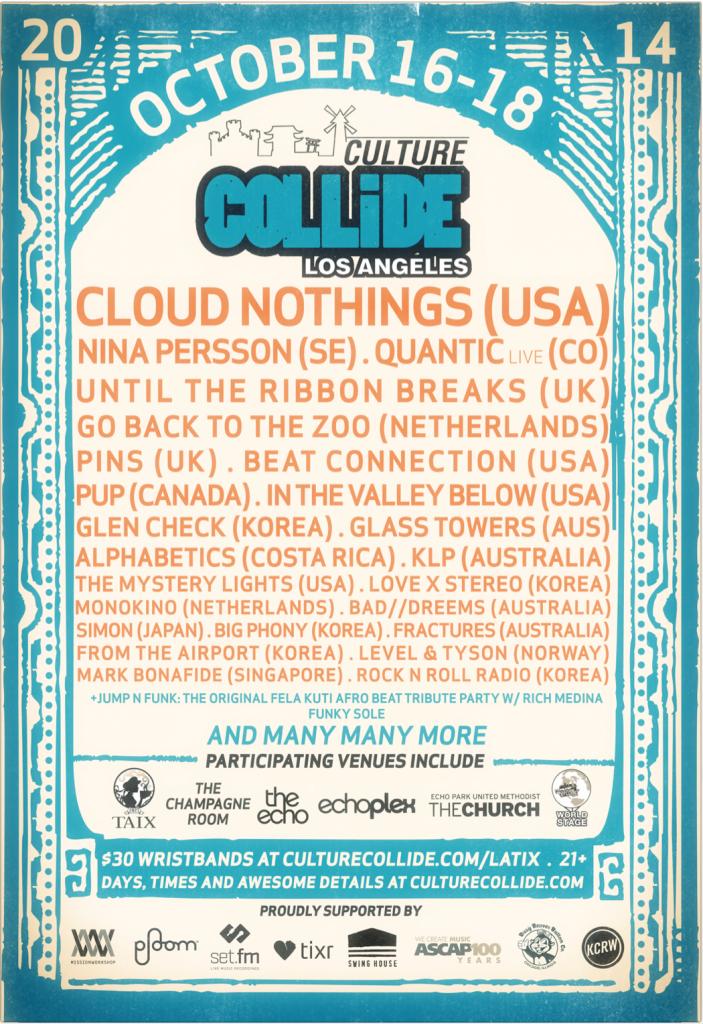 Culture Collide Festival 2014 Poster